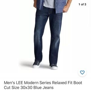 Mens LEE Modern Series Relaxed Fit Boot Cut 30x30